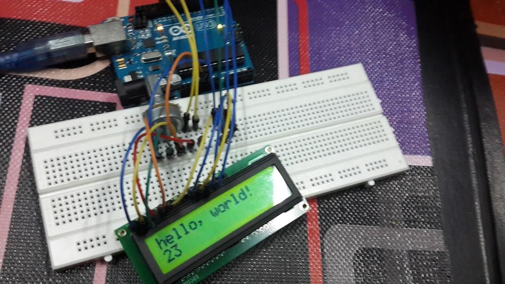 Arduino project menggunakan input keypad dan